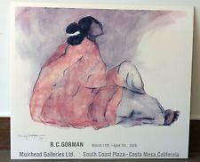 1978 RC Gorman ORIGINAL Expo Poster Print 28 x24 Mounted Costa Mesa, CA Muirhead