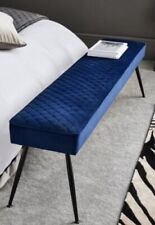 NEXT HAMILTON BENCH LUXURY VELVET LONG BENCH NEW BOXED BLUE RRP £160 New Boxed