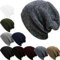 Nuevo Baggy Oversize Cráneo Ski Cap Knit Knit Hat Winter Beanie sombrero
