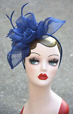 Womens Sinamay Fascinator Cocktail Hat Wedding Royal Ascot Ladies' headband A359