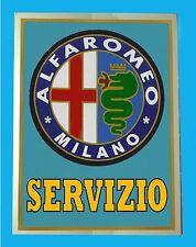 ALFA ROMEO SERVIZIO - TARGA IN METALLO - RIPR. D' EPOCA