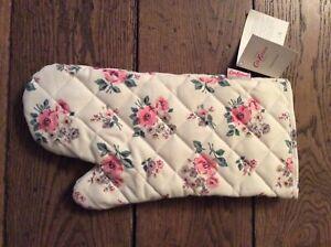 BNWT New Cath Kidston Oven Glove / Mitt - Grove Bunch Warm Cream - 100% Cotton