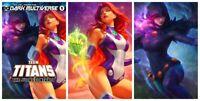 DC Comics Teen Titans #1 Comic Raven + Starfire Trade + Virgins Artgerm Set NM