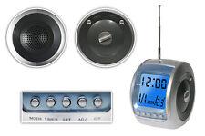 Radiosveglia digitale lcd orologio temperatura calendario timer torcia snooze