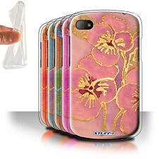 STUFF4 Gel/TPU Case/Cover for Blackberry Q10/Floral Silk Effect