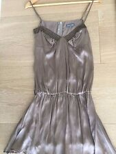Brand New Magali Pascal Silk Strapy Dress Bronze Colour Studded Details Size XS
