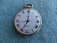Vintage Swiss Made Kent 17 Jewels Incabloc Mechanical Wind Up Pocket Watch