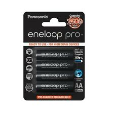 Panasonic BK-3HCCA4BA Eneloop Pro AA Pre-Charged Batteries 4 Pack up to 2500mAH