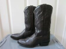 NEW Dan Post Dark Brown Teju Lizard Leather Raleigh Cowboy Boots #2352 Sz 10 D