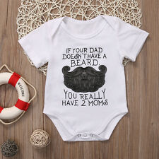 Newborn Kids Baby Boy Girls Infant Romper Bodysuit Jumpsuit Clothes Outfit 0-18M