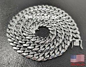 Mens Miami Cuban Link Chain Stainless Steel Necklace or Bracelet Hip Hop Jewelry