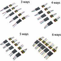 3 4 5 6 PIN modo Prewired PRE CABLATO elettrico impermeabile CONNETTORI PLUG