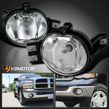 2002-2008 Dodge Ram 1500 2500 3500 Pickup Clear Bumper Driving Fog Lights Kit