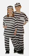 Halloween Boys Girls Kid Prisoner Costume Hat Top Pants Size Small 8 NWT