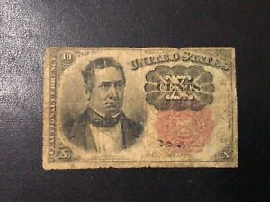 1874 US FRACTIONAL CURRENCY 10 CENTS BANKNOTE!