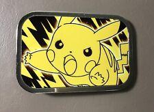 Pokemon Pikachu Buckle Down Yellow Black Chrome Rock Star Belt Buckle 2013 USA