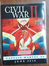 "2016 MARVEL ANNUAL CIVIL WAR II ""CAPTAIN MARVEL #6 "" Upper Deck #CW16"