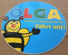 Aufkleber Sticker OLGA 1999 Biene