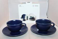 Iittala Arabia Finland 24h Coffee Cup Saucer Set of 2 Heikki Orvola Matte Blue B