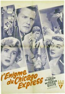 L'ENIGME du CHICAGO EXPRESS - R.FLEISHER - 1952 -RKO - 60 X 80 cm -