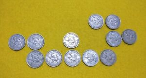 New Zealand lot of 12 different years shilling coins