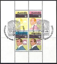 Australia 1976 STAMP WEEK Miniature Sheet FineUsed(CTO) First DayCancel SG MS634