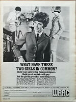WRAC What Have These Two Girls Got In Common? Vintage Advertisement 1967