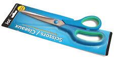 NEW BLUE SOFT GRIP HANDLES SCISSORS JOT 8-1/2 LONG STAINLESS STEEL