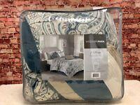 Madison Park Home Essence Celena Queen Comforter Set - Blue, Multicolor