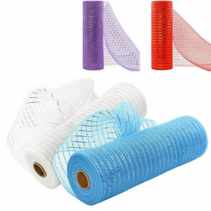 Deco Mesh Rolls 26cm x 10yd Roll - 4 colours Available for Wreaths Swags Bows