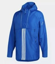 Adidas Men's Athletics ID Woven Anorak CV3269 Royal Blue Pullover Jacket. Small.
