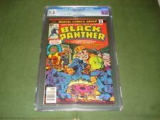 1977 BLACK PANTHER COMICS #1 CGC 7.5, GREAT LOOKING COMIC, MARVEL,KIRBY ART