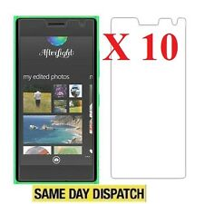 10 X Ultra Clear Screen Protectors Cover Film for Nokia Lumia 730 735 & Cloth