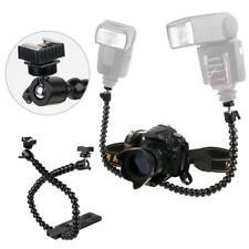 Flexible Dual Arm Hot Shoe Flash Bracket For Macro Digital Camera SLR