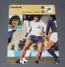 FICHE FOOTBALL 1978 ITALIE-FRANCE JEAN-MARC GUILLOU OGC NICE SCO ANGERS