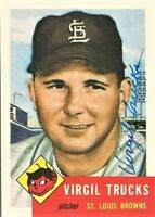 1991 Topps Archives Signed Auto Virgil Trucks 1953 St Louis Browns Card #96