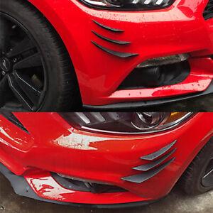 6x Carbon Fiber Car Front Bumper Fin Splitter Spoiler Canard Valence Universal
