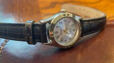 New listing Women's 24mm Silver Tone Precision by Gruen Diamond Series Watch, Leather Band