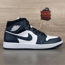 Nike Air Jordan 1 Mid UK 9 US 10 Armory Navy Blue Black White