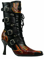 New Rock High Heel Damen Stiefel Boot Flamme Metallabsatz M9591 5073