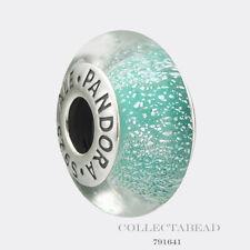 Authentic Pandora Silver Disney Ariel Green Fluorescent Murano Glass Bead 791641