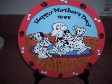 GROLIER COLLECTIBLES DISNEY MOTHER'S DAY  PLATE 1998 DALMATIONS PUPPY LOVE