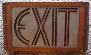 VINTAGE ART DECO THEATER EXIT SIGN