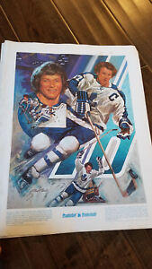 1976-77 PRUDENTIAL MOMENTS POSTER PRINT DARRYL SITTLER 10 POINTS MAPLE LEAFS HOF