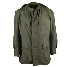 Genuine Belgian army field jacket M64 military cotton Hooded parka green