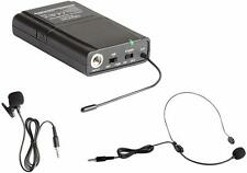 Denon Professional Uhf Belt Pack Transmitter With Headset & Lavalier Microphones