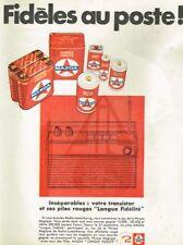 D- Publicité Advertising 1967 Les Piles Mazda Longue Durée avec Radio Luxembourg