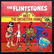 FLINTSTONES MEET ORCHESTRA FAMILY LP Kids' TV Cartoon Storybook Hanna-Barbera US
