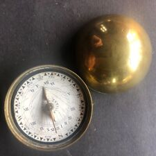 Antique pocket sundial/compass by castles london, 1860/80