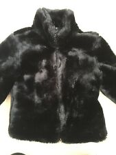 Gap Girls Faux Fur Jacket Black XS Age 4
